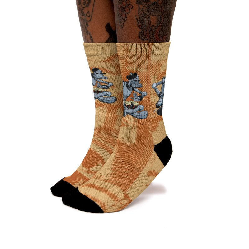 ROBEATNIK Women's Crew Socks by The Art of Coop