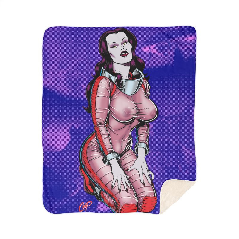SPACE VAMPIRE Home Sherpa Blanket Blanket by The Art of Coop