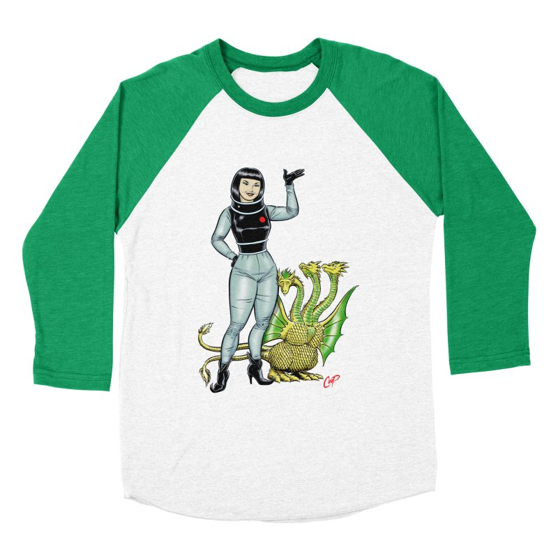 MISS NAMIKAWA Women's Baseball Triblend Longsleeve T-Shirt by The Art of Coop