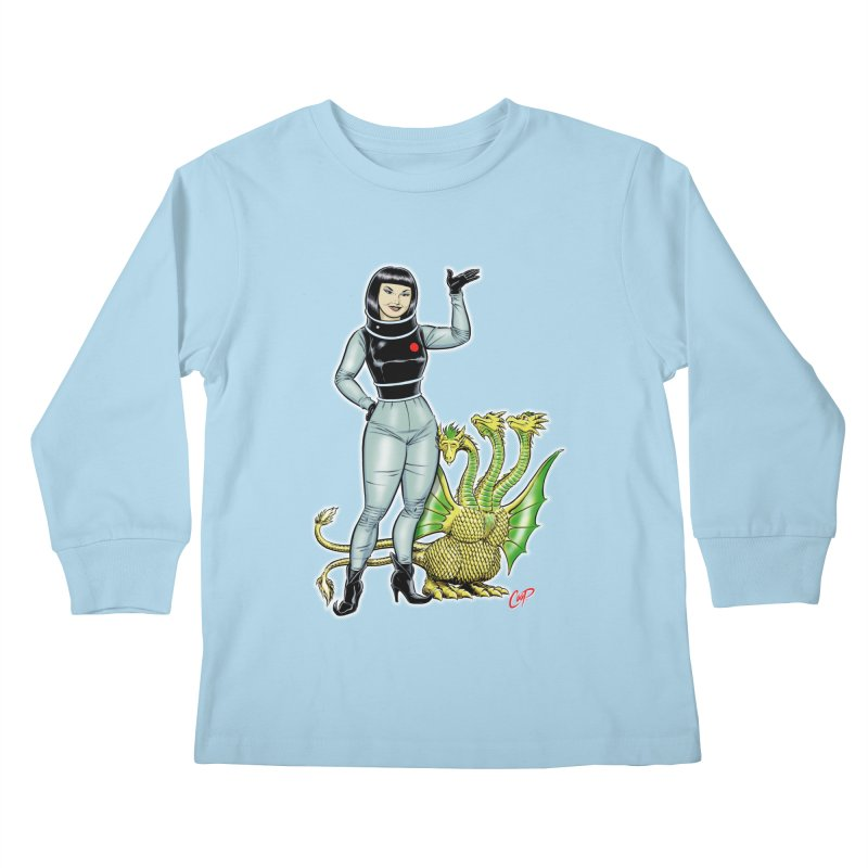 MISS NAMIKAWA Kids Longsleeve T-Shirt by The Art of Coop