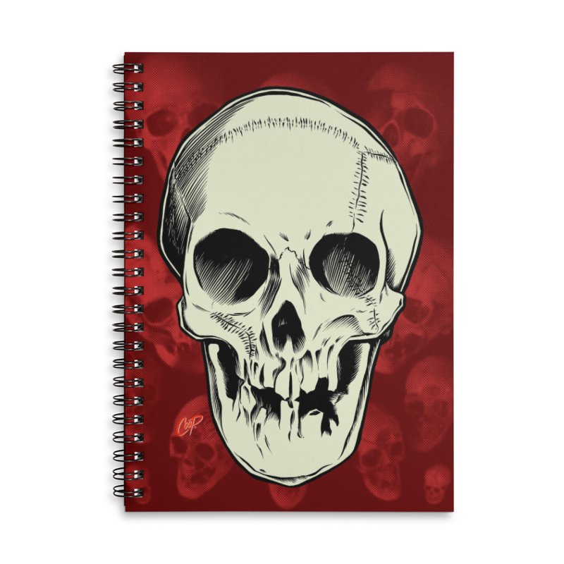 PIRATE SKULL Accessories Lined Spiral Notebook by The Art of Coop