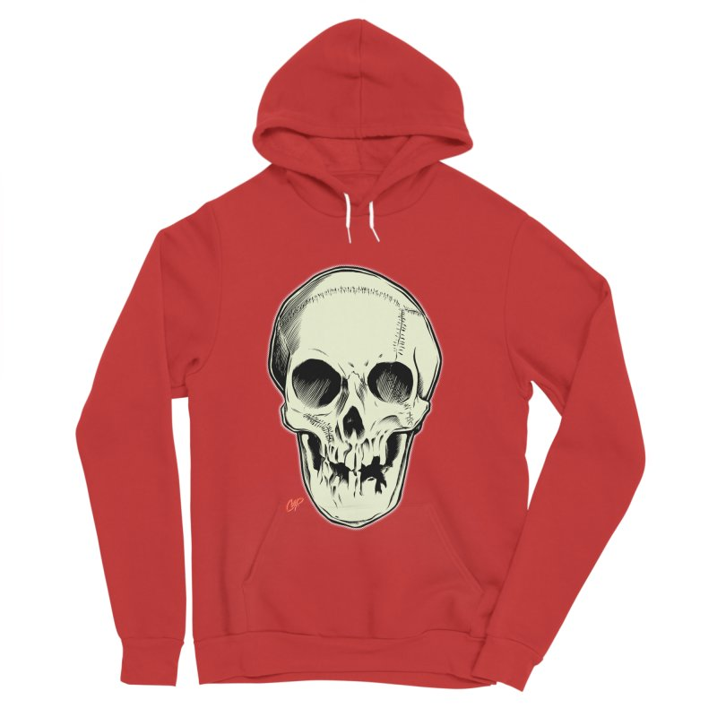 PIRATE SKULL Men's Sponge Fleece Pullover Hoody by The Art of Coop