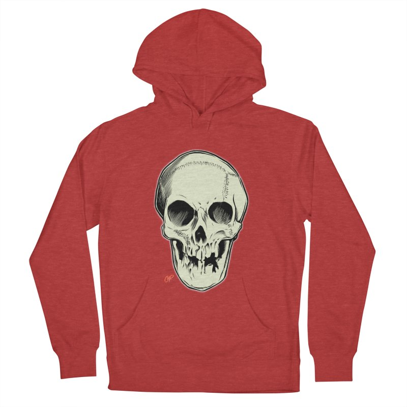 PIRATE SKULL Women's French Terry Pullover Hoody by The Art of Coop