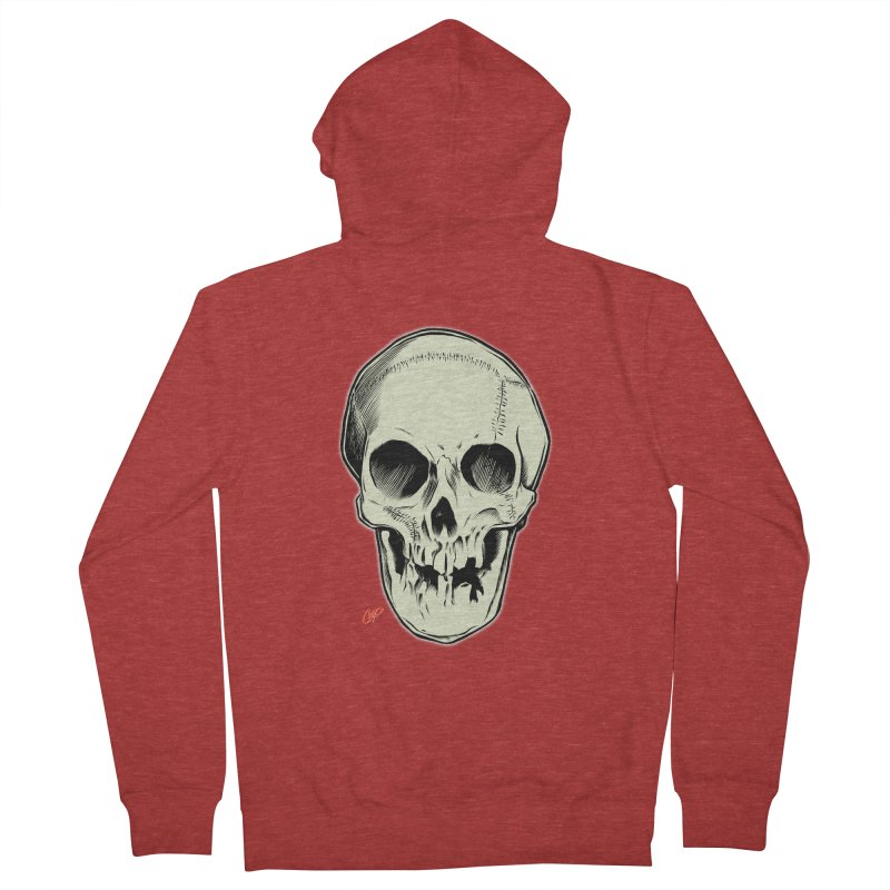 PIRATE SKULL Women's French Terry Zip-Up Hoody by The Art of Coop
