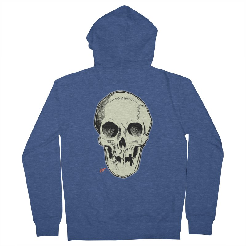 PIRATE SKULL Men's French Terry Zip-Up Hoody by The Art of Coop
