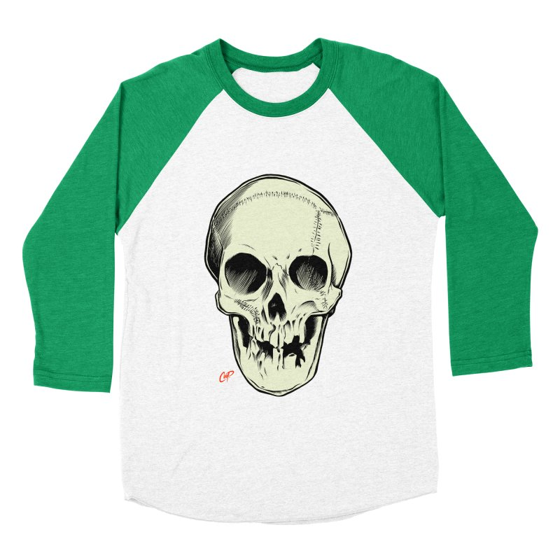 PIRATE SKULL Women's Baseball Triblend Longsleeve T-Shirt by The Art of Coop