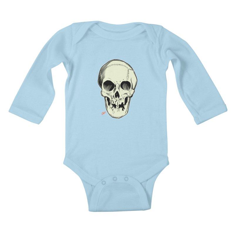 PIRATE SKULL Kids Baby Longsleeve Bodysuit by The Art of Coop