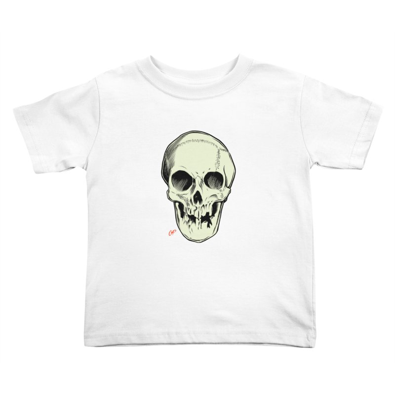 PIRATE SKULL Kids Toddler T-Shirt by The Art of Coop