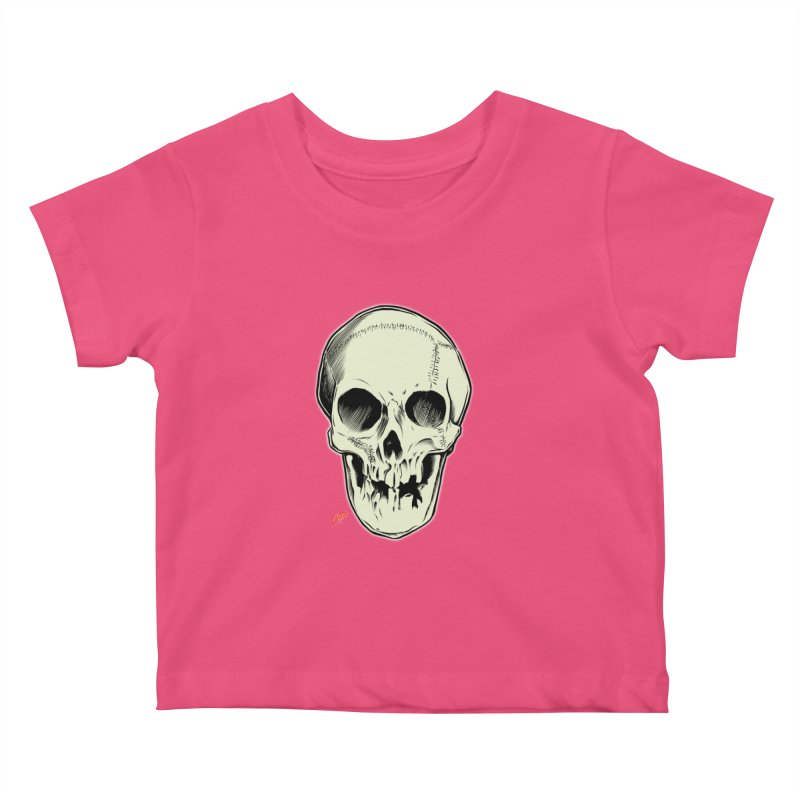 PIRATE SKULL Kids Baby T-Shirt by The Art of Coop