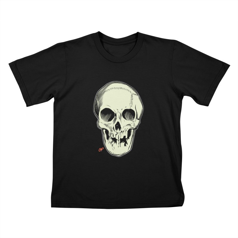 PIRATE SKULL Kids T-Shirt by The Art of Coop