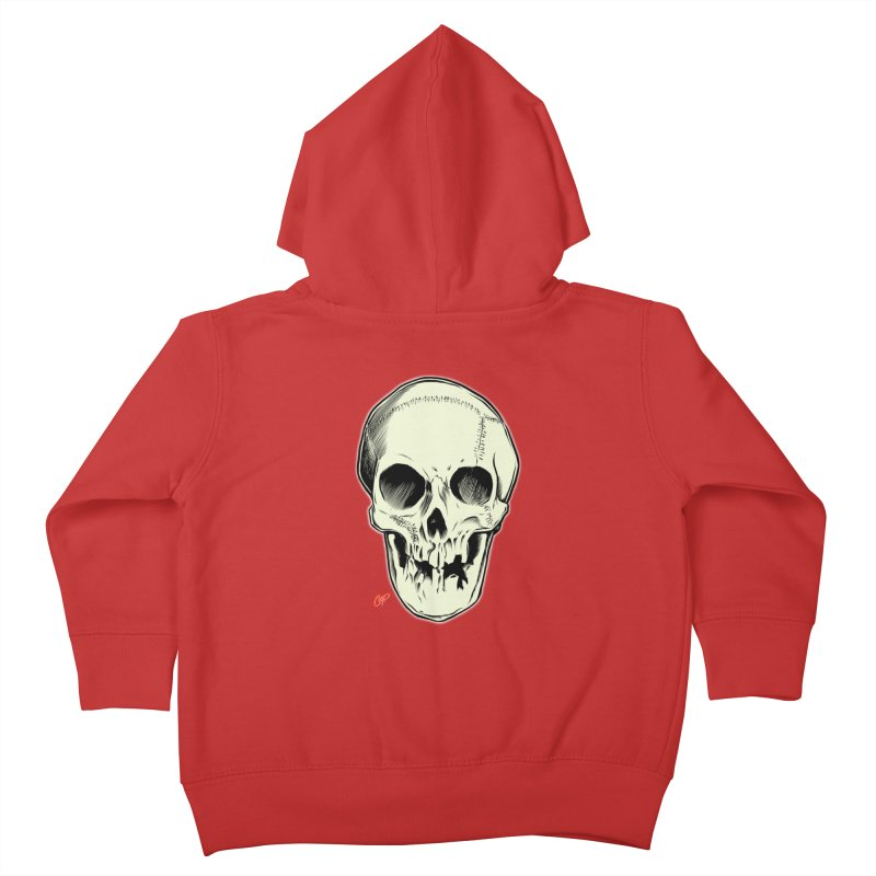 PIRATE SKULL Kids Toddler Zip-Up Hoody by The Art of Coop