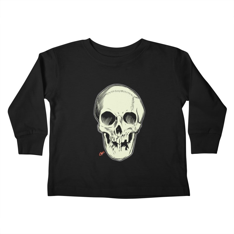 PIRATE SKULL Kids Toddler Longsleeve T-Shirt by The Art of Coop