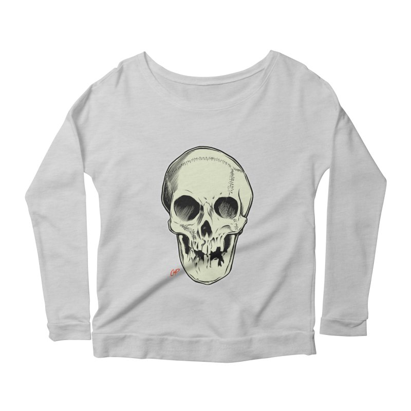 PIRATE SKULL Women's Scoop Neck Longsleeve T-Shirt by The Art of Coop