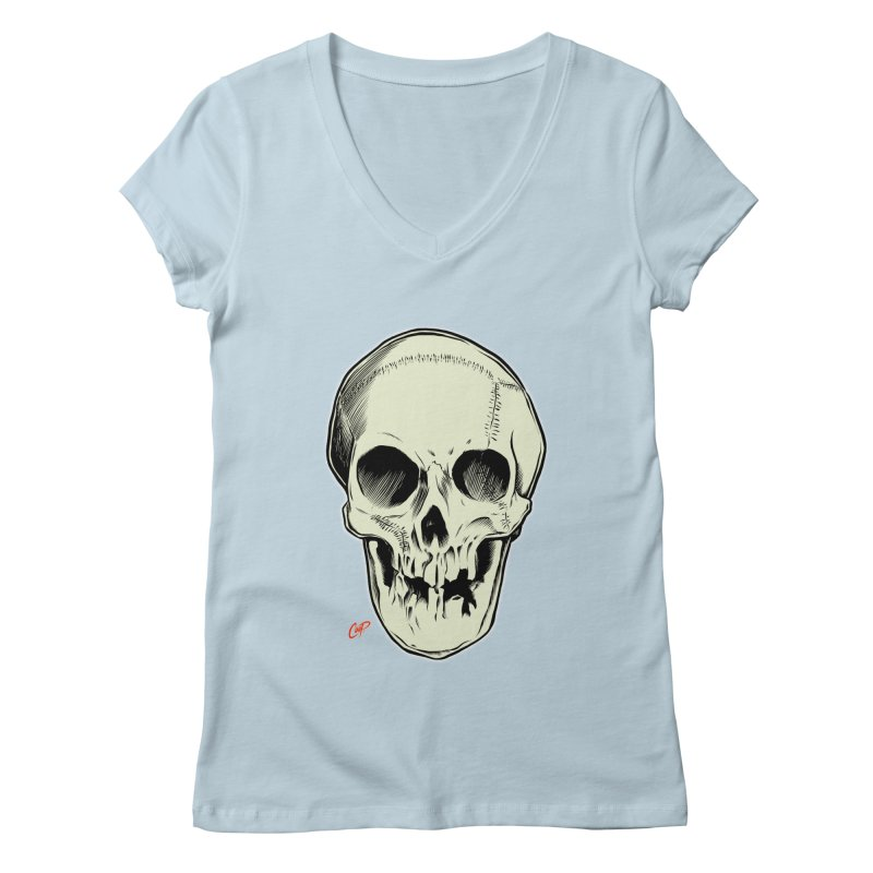 PIRATE SKULL Women's Regular V-Neck by The Art of Coop