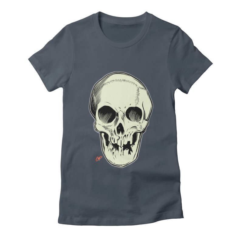PIRATE SKULL Women's Fitted T-Shirt by The Art of Coop