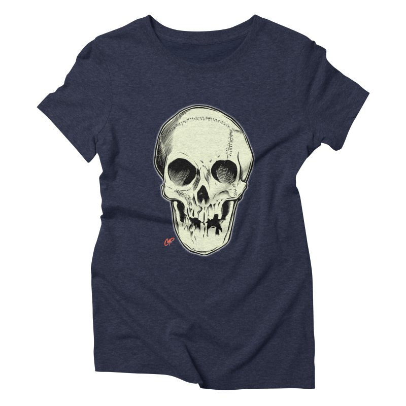 PIRATE SKULL Women's Triblend T-Shirt by The Art of Coop