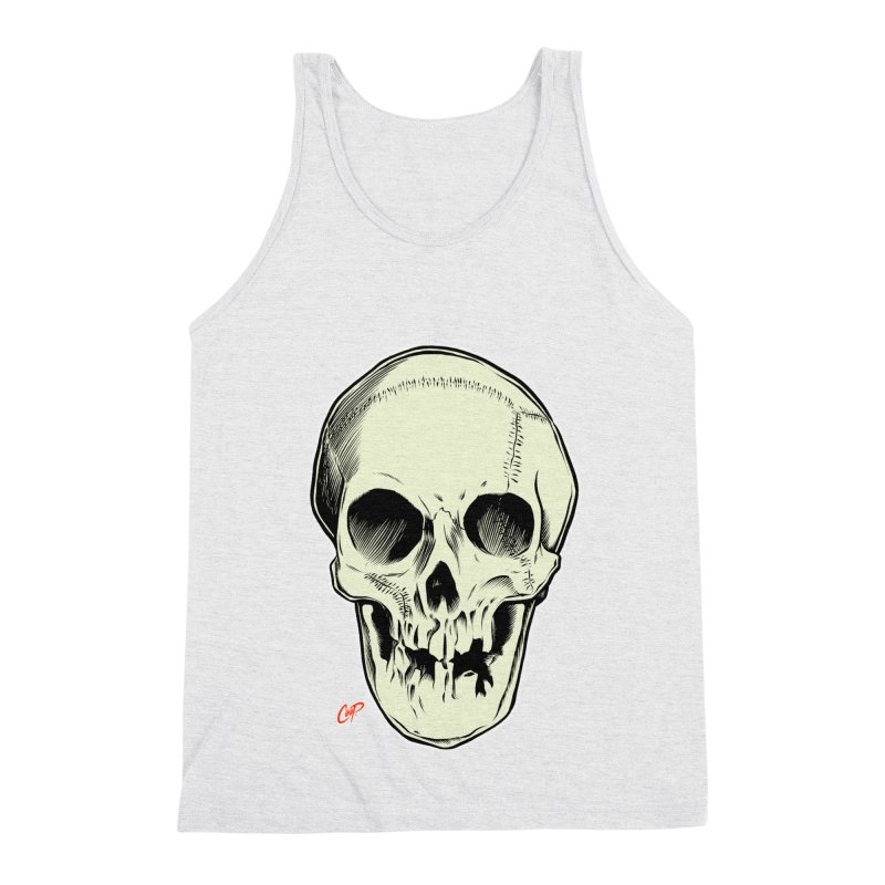 PIRATE SKULL Men's Triblend Tank by The Art of Coop