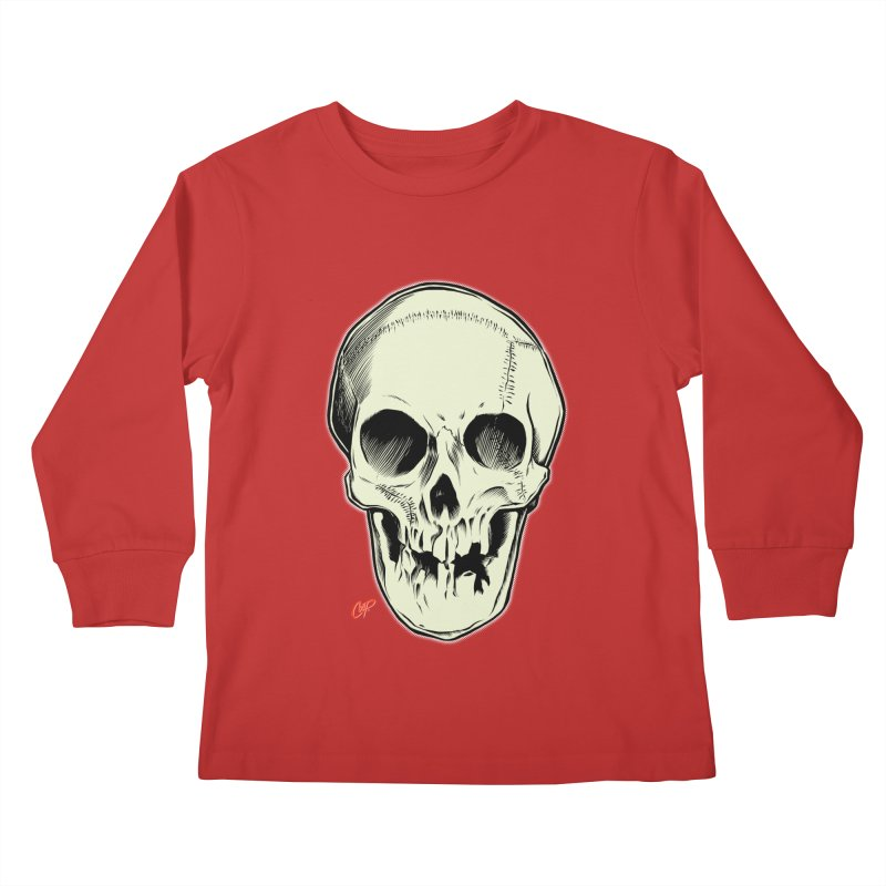 PIRATE SKULL Kids Longsleeve T-Shirt by The Art of Coop