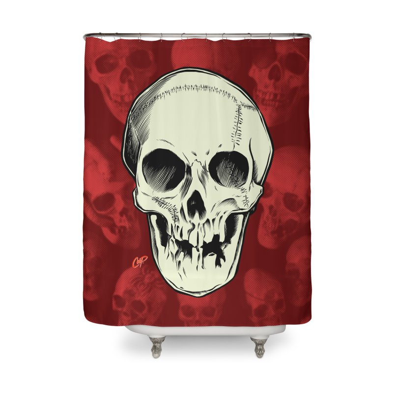 PIRATE SKULL Home Shower Curtain by The Art of Coop