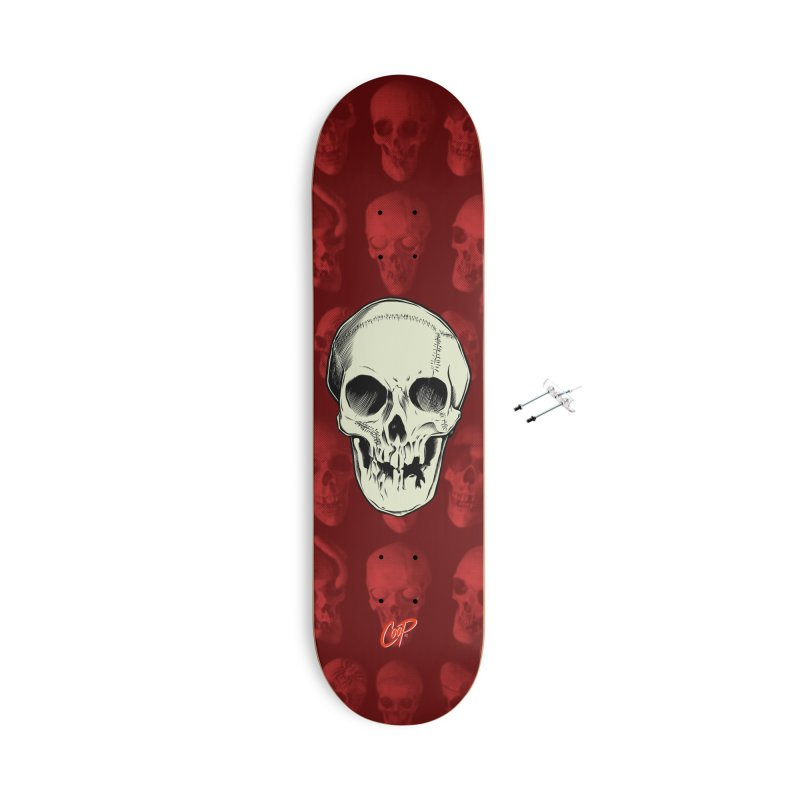 PIRATE SKULL Accessories With Hanging Hardware Skateboard by The Art of Coop