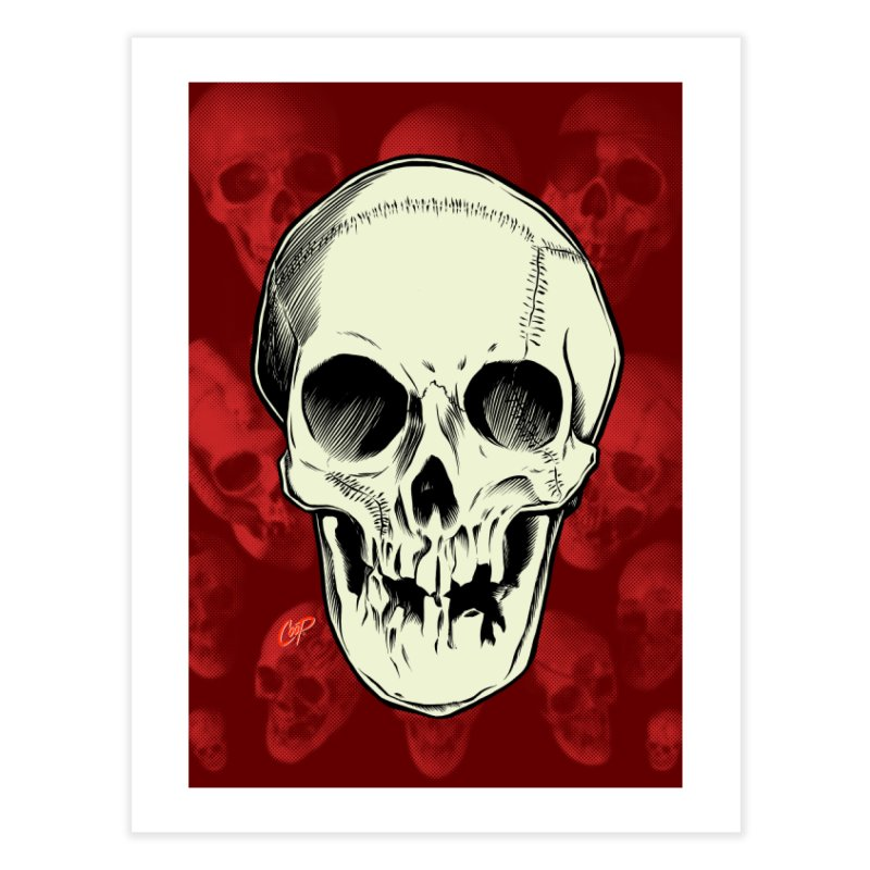 PIRATE SKULL Home Fine Art Print by The Art of Coop