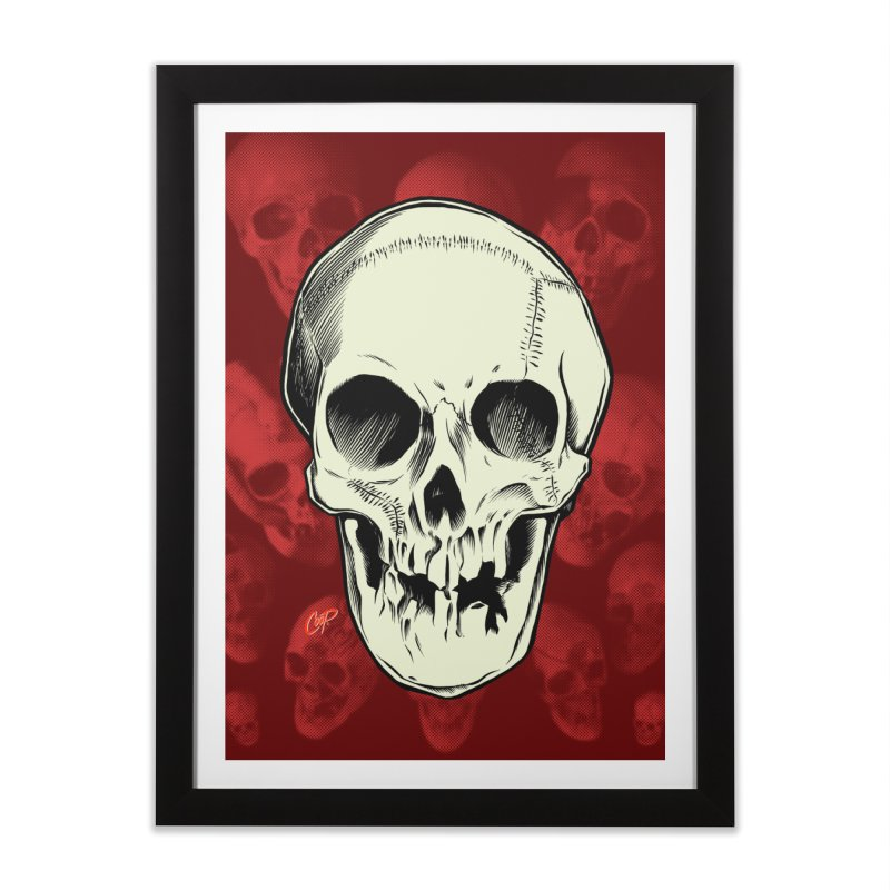 PIRATE SKULL Home Framed Fine Art Print by The Art of Coop