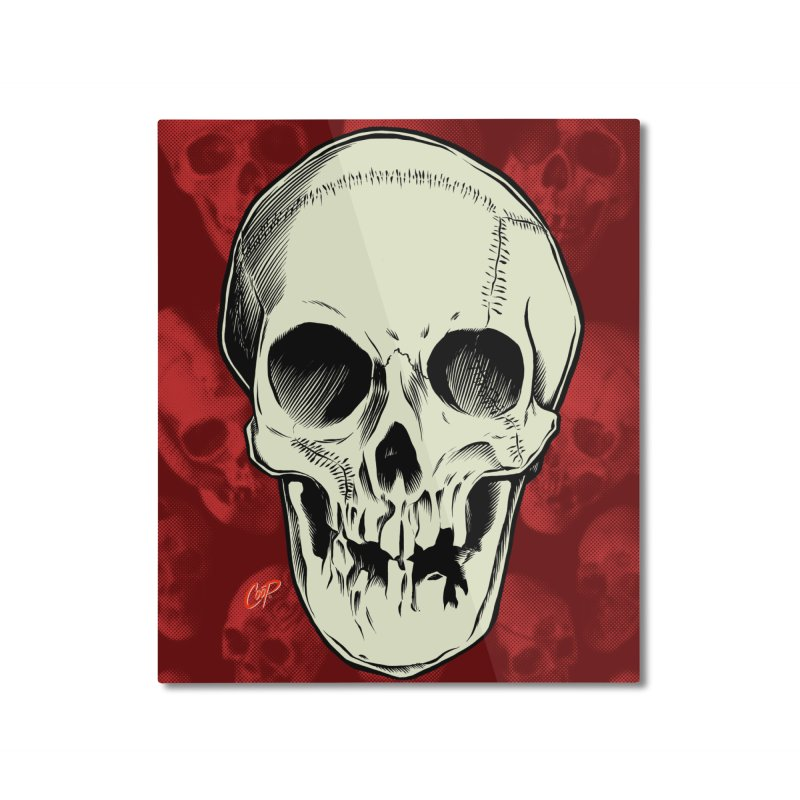 PIRATE SKULL Home Mounted Aluminum Print by The Art of Coop