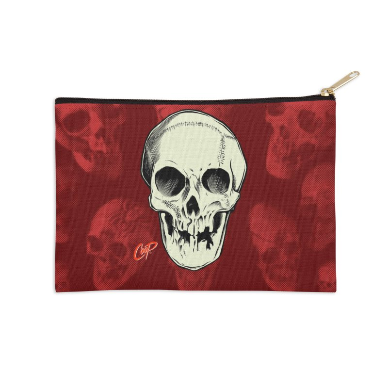 PIRATE SKULL Accessories Zip Pouch by The Art of Coop
