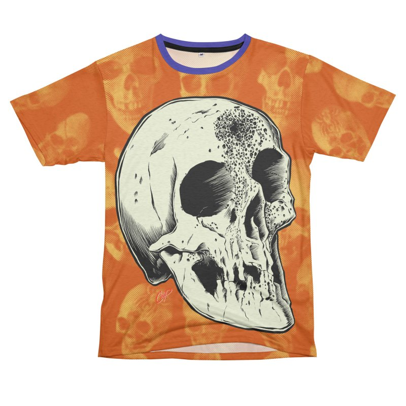 Voodoo Skull Women's Unisex French Terry T-Shirt Cut & Sew by The Art of Coop