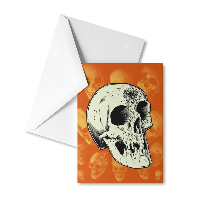 Voodoo Skull Accessories Greeting Card by The Art of Coop