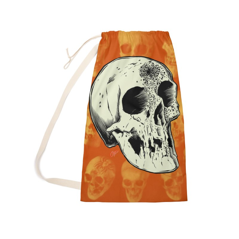 Voodoo Skull Accessories Laundry Bag Bag by The Art of Coop