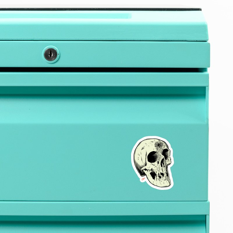 Voodoo Skull Accessories Magnet by The Art of Coop