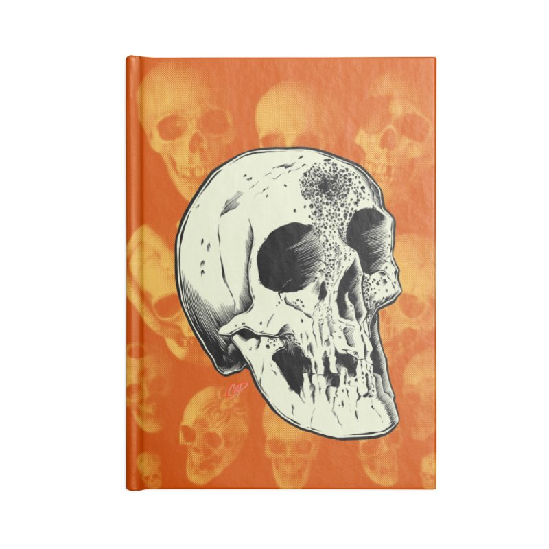 Voodoo Skull Accessories Lined Journal Notebook by The Art of Coop