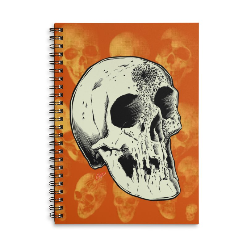 Voodoo Skull Accessories Lined Spiral Notebook by The Art of Coop