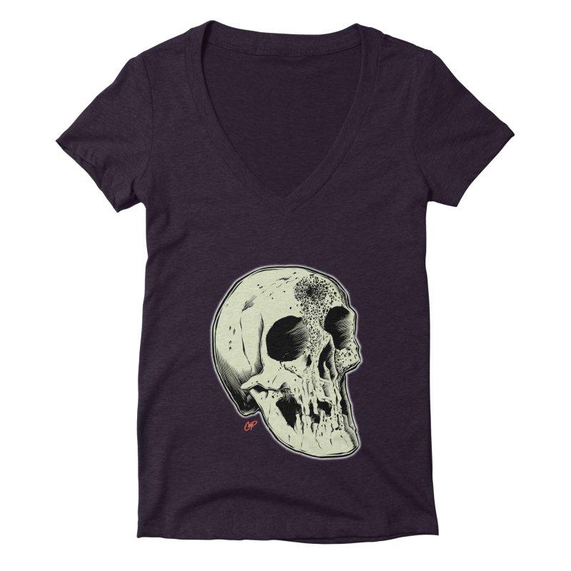 Voodoo Skull Women's Deep V-Neck V-Neck by The Art of Coop