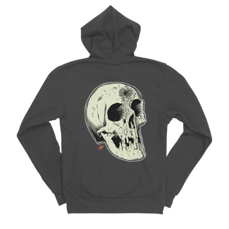 Voodoo Skull Women's Sponge Fleece Zip-Up Hoody by The Art of Coop