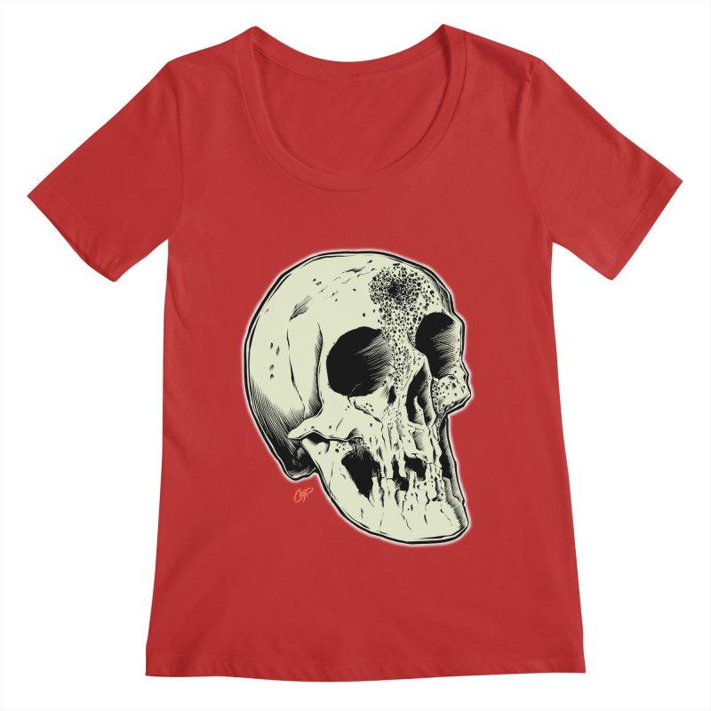 Voodoo Skull Women's Regular Scoop Neck by The Art of Coop