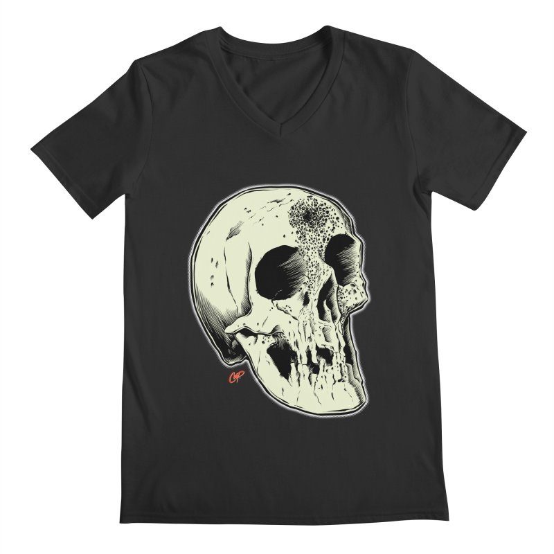 Voodoo Skull Men's Regular V-Neck by The Art of Coop