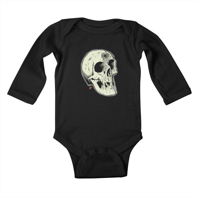 Voodoo Skull Kids Baby Longsleeve Bodysuit by The Art of Coop