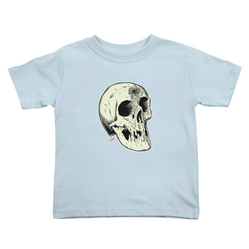 Voodoo Skull Kids Toddler T-Shirt by The Art of Coop