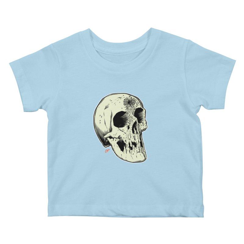 Voodoo Skull Kids Baby T-Shirt by The Art of Coop