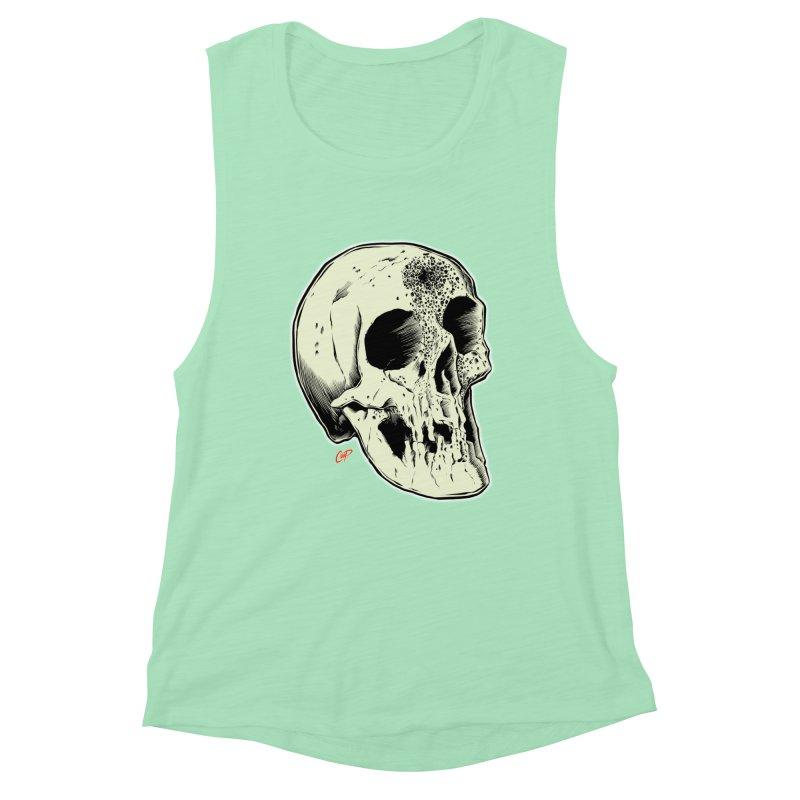 Voodoo Skull Women's Muscle Tank by The Art of Coop
