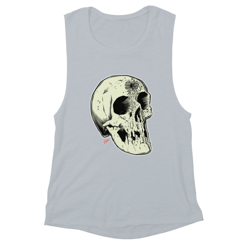 Voodoo Skull Women's Muscle Tank by The Art of Coop