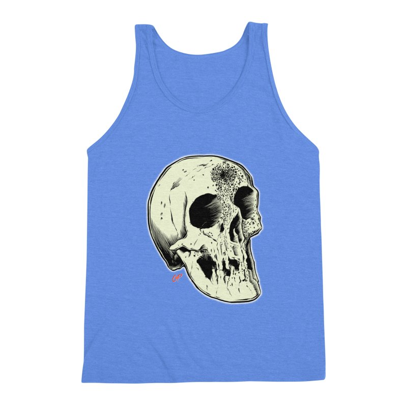 Voodoo Skull Men's Triblend Tank by The Art of Coop