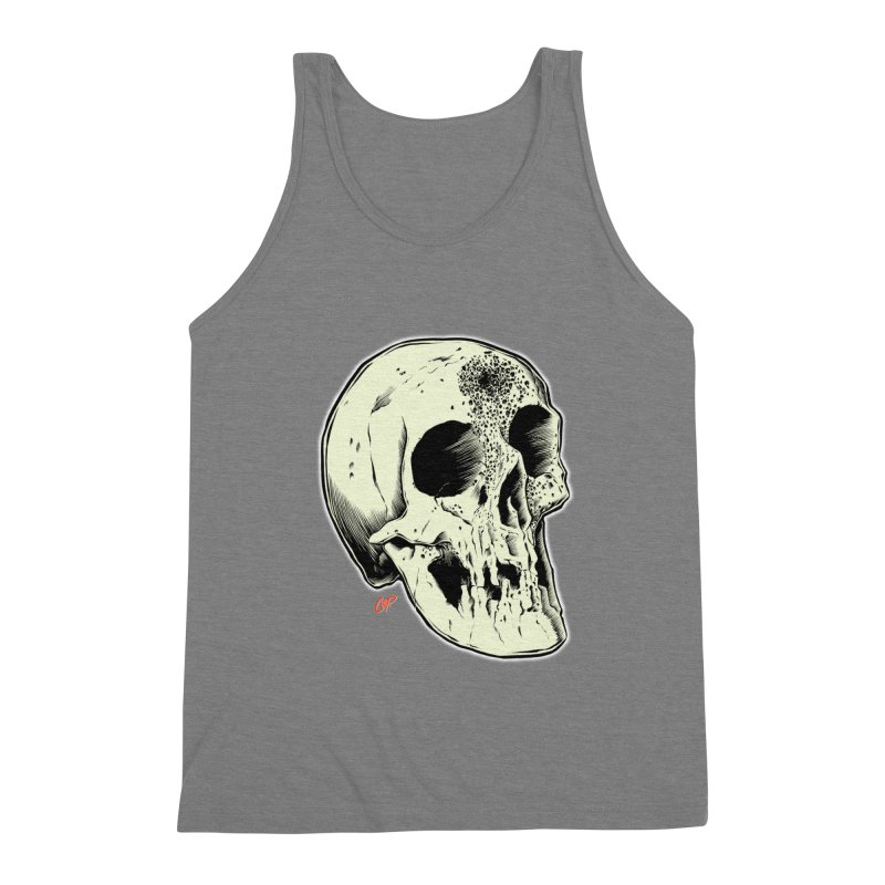 Voodoo Skull Men's Triblend Tank by The Art of Coop