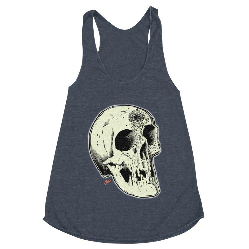 Voodoo Skull Women's Racerback Triblend Tank by The Art of Coop