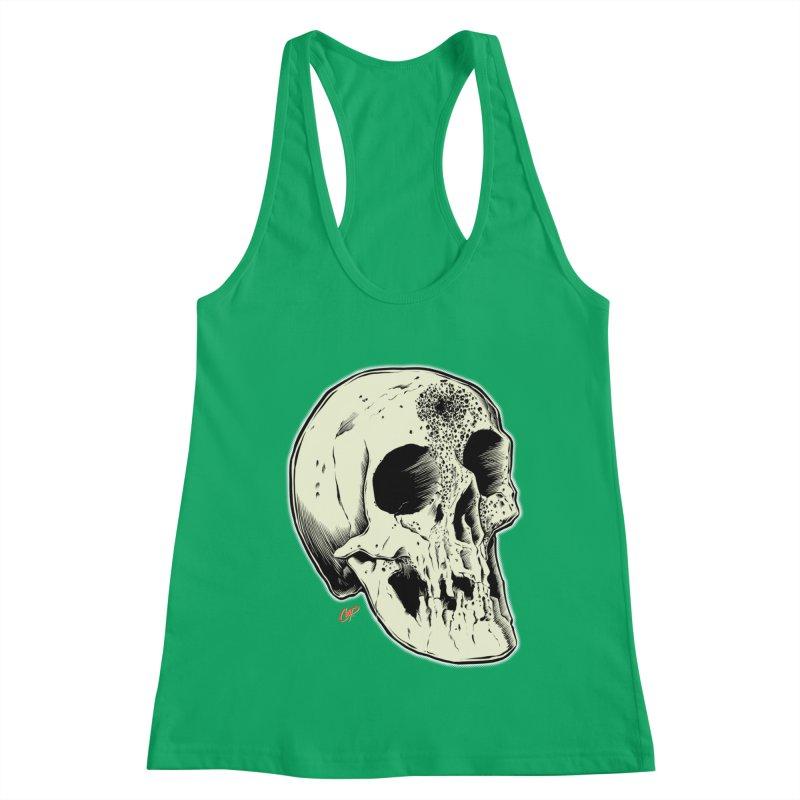 Voodoo Skull Women's Racerback Tank by The Art of Coop