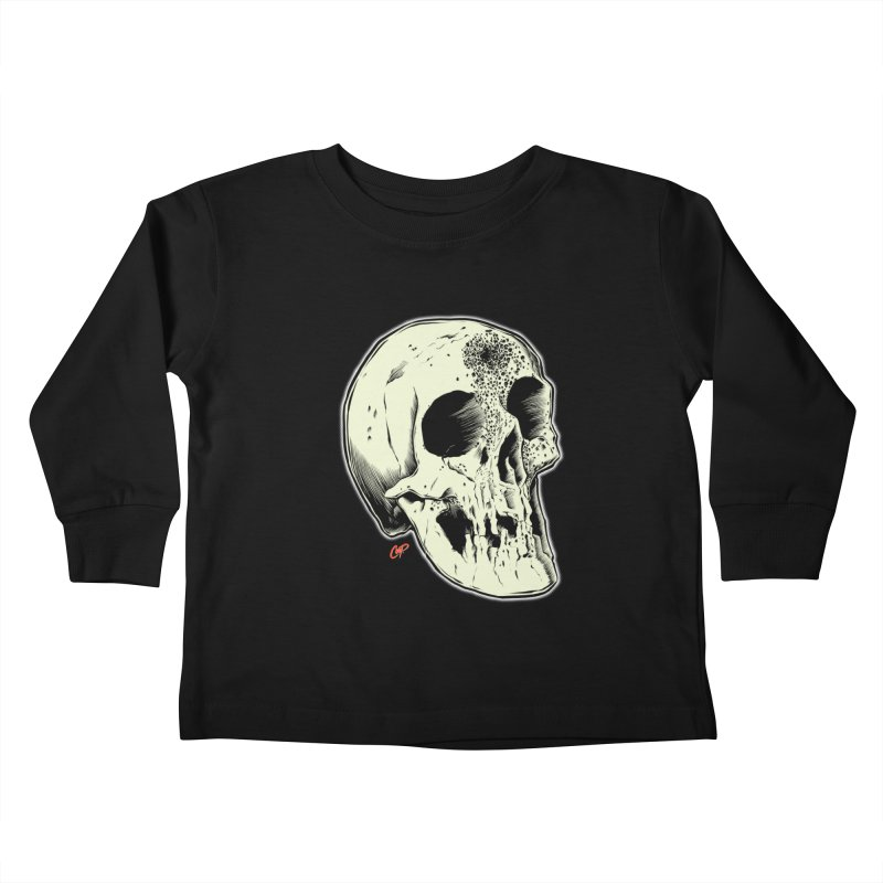 Voodoo Skull Kids Toddler Longsleeve T-Shirt by The Art of Coop
