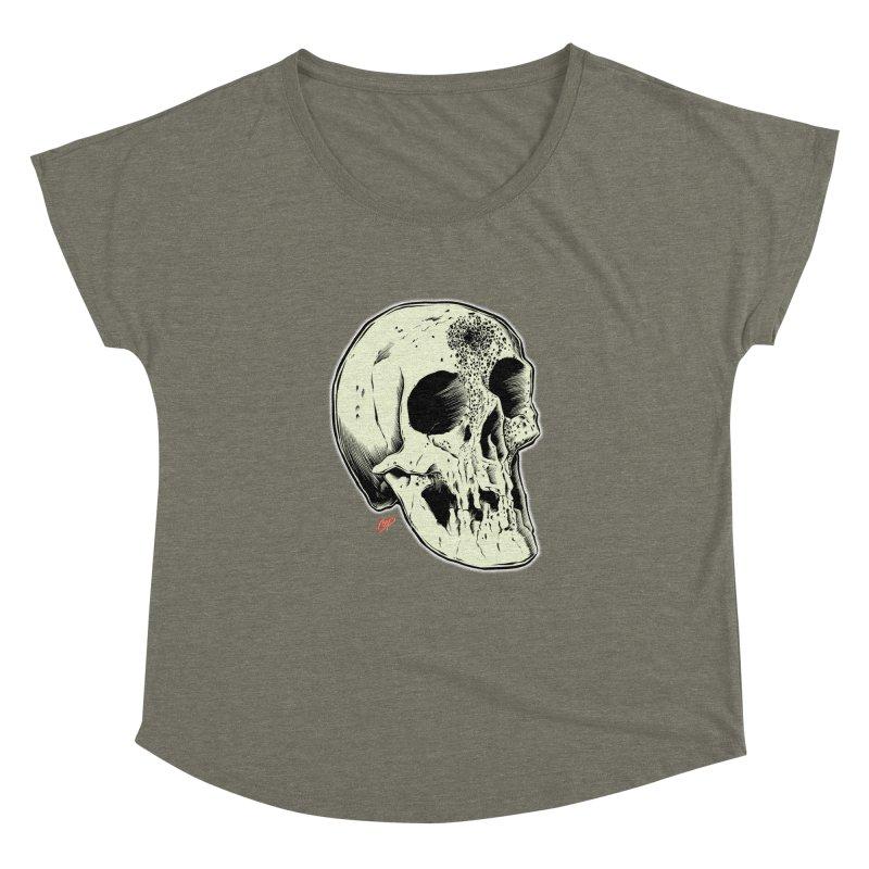 Voodoo Skull Women's Dolman Scoop Neck by The Art of Coop