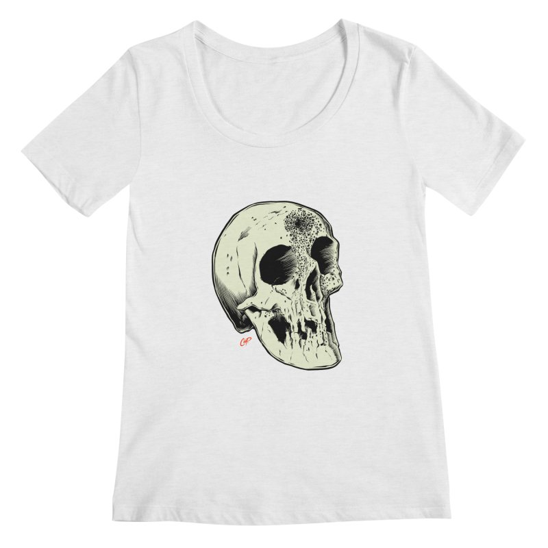 Voodoo Skull Women's Regular Scoop Neck by The Art of Coop